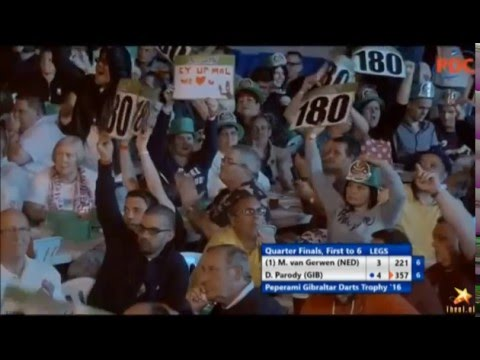 Hilarious darts player Dyson Parody vs MVG - best moments
