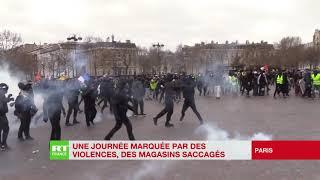 De nombreuses scènes de violence filmées lors de cet acte 18 de la mobilisation des Gilets jaunes