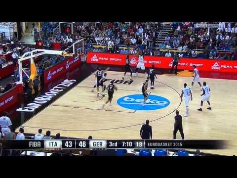Andrea Bargnani - Italia vs Germania  9-9-2015 - Eurobasket 2015