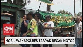 Mobil Wakapolres Tabrak Becak Motor, 2 Tewas