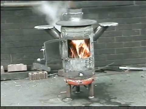pot belly stove,back boiler,recycled,propane gas cylinder. - YouTube