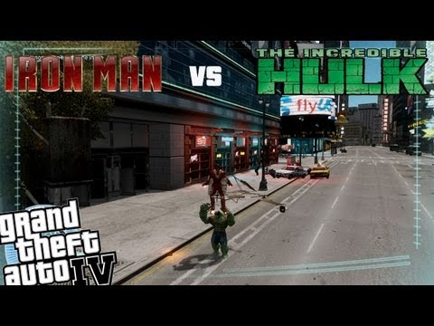 GTA IV Hulk Mod VS Iron Man Mod - Rematch Hulk vs Iron Man