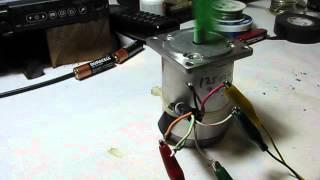8 wire Stepper motor test with arduino