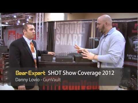 GunVault's New Vertically Mounted Gun Safe - The SpeedVault - New @ SHOT Show 2012