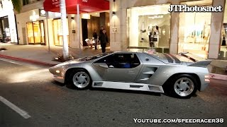 Vector W8 out driving in Beverly Hills
