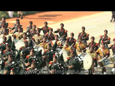 Indian Army's Military Bands at Republic Day parade in Rajpath, New Delhi