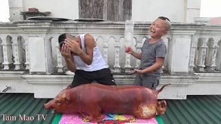 Trò Chơi Ăn Lợn Quay Đập Đầu - Mao Đại Ca Lần Đầu Chiến Thắng Mao Đệ Để Dành Được Cả Con Lợn Quay To