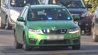 *RARE* - 'Green' Unmarked Police Car Responding - Skoda Octavia VRS DTU