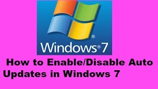 How to Enable/Disable Auto Updates in Windows 7 (Bangla tutorial)