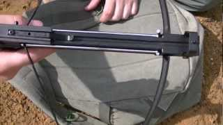 Crossbow pistol 50 lb shooting and Stringing bow string
