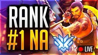 🔴 NEW PATCH Overwatch Rank #1 NA Peak 4646 SR -- Main Account Games Yikes (Samito)