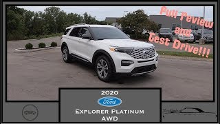 2020 Ford Explorer Platinum AWD|Walk Around Video|In Depth Review|Test Drive