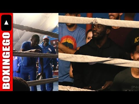 "Team Crawford Team Indongo CAMPS GO TO WAR; Shouting Match ""Lets go Champ"" vs ""Champ is HERE"" battle"