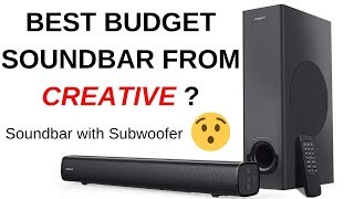 BEST BUDGET SOUND BAR WITH SUBWOOFER FROM CREATIVE?