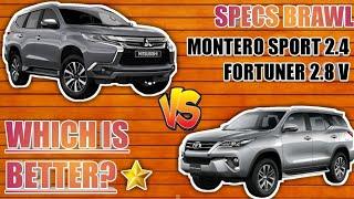 (2019) Mitsubishi Montero Sport GT 2.4 4x4 vS Toyota Fortuner 2.8V 4x4 - Best SUV? (Specs Brawl)