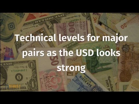 Technical levels for major pairs as the USD looks strong