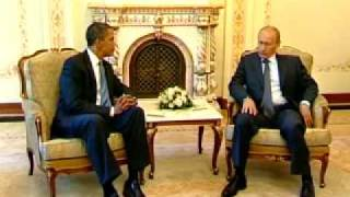 V.Putin.Met with Barack Obama,US President.07.07.09
