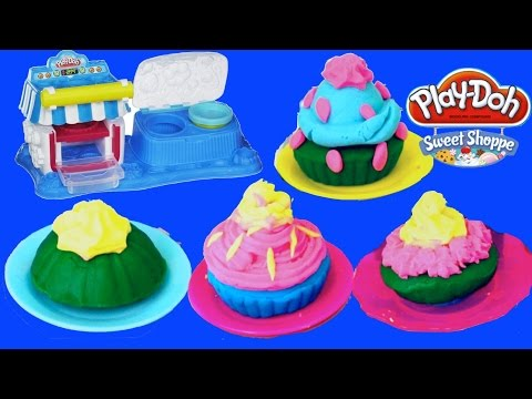 Play-Doh Sweet Shoppe Double Desserts by Hasbro toys - How to make Play Dough Cake Ice cream