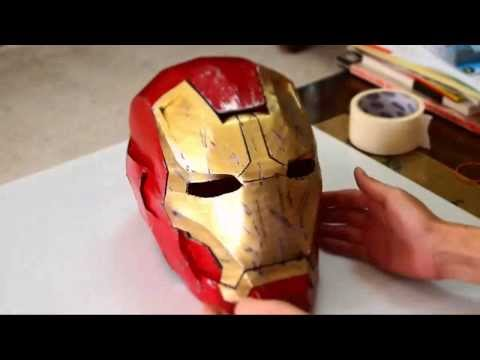 #35: Iron Man Mark 42 Helmet DIY 8/8 - Paint. battle damage