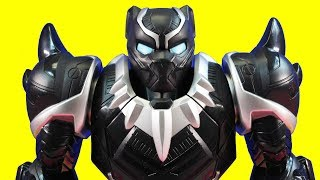 Playskool Heroes Marvel Black Panther Mech Armor Rescues Imaginext Green Lantern From Villains