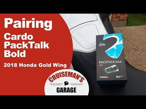Pairing Cardo PackTalk Bold with 2018 Goldwing