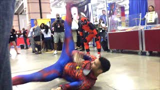 Stunning Spider-Man vs Deadpool (Breakdancing Battle)