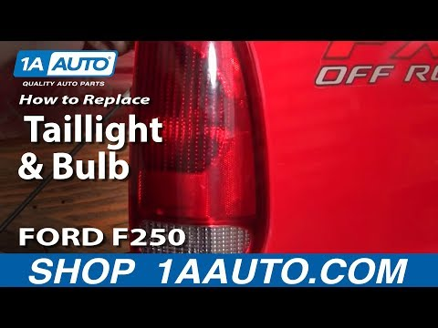 How To Install Replace Broken Taillight and Bulb 99-07 Ford Super Duty