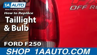 How To Install Replace Broken Taillight and Bulb 99-07 Ford Super Duty F250 F350 1AAuto.com