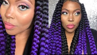 Perfect Rubber Band Method Jumbo Box Braids Giveaway Africana Braid