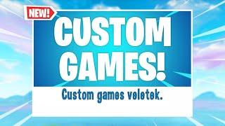CUSTOM GAMES VELETEK (Fortnite Magyar Livestream)