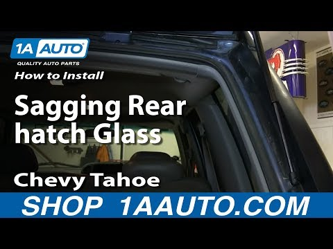How To Install Fix Sagging Rear hatch Glass 1996-99 Chevy Tahoe