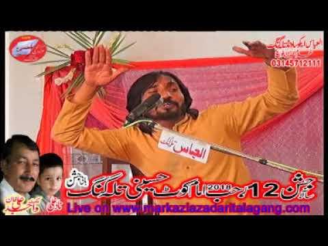 zakir Naveed Abbas Naveed Jashan 12 Rajab 2018 Talagang