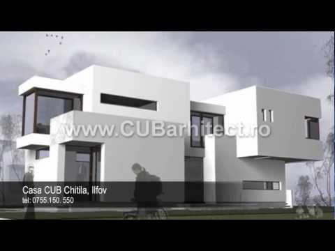 Constructie case mici proiecte arhitect casa cub chitila ilfov youtube - Casa cub moderne ...