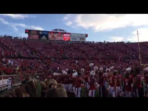 Louisville Football Celebrates Victory with Fans After Wake