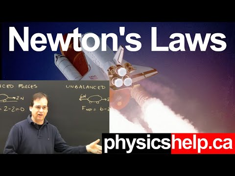 Physics Lesson: Newton's Laws First & Second Part 1 Introduction