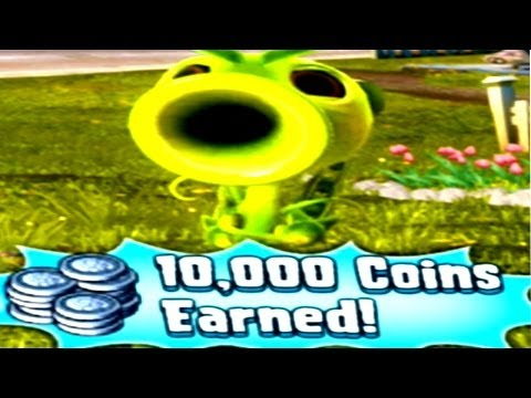 Plants vs. Zombies Garden Warfare How to Earn 10000 Free Coins - Peashooter Lv 11 (PC/XBOX ONE/360)