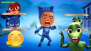 Funny PJ Masks Alien Dance vs Moana Maui Face Swap Learn Colors For Kids