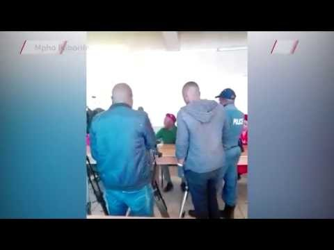 WATCH: Julius Malema loses temper with cops in Tembisa