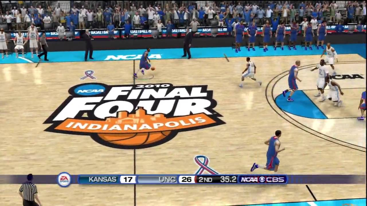 NCAA Basketball 10 - Kansas vs North Carolina ...