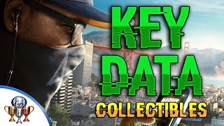 Watch Dogs 2 Key Data Locations - All 24 Key Data Collectibles (Research Trophy & Achievement)