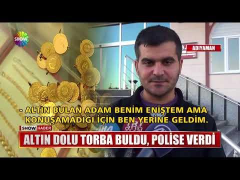Altın dolu torba buldu, Polise verdi