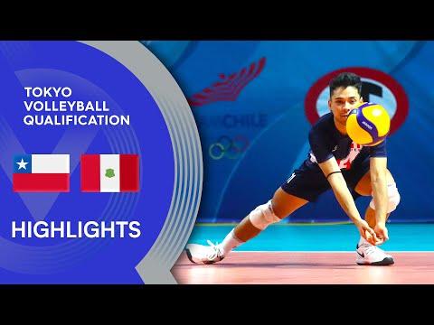Chile vs. Peru - Highlights   CSV Men's Men's Tokyo Volleyball Qualification 2020