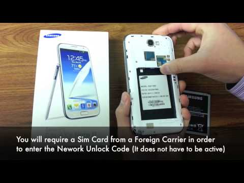 Unlock Galaxy Note 2 II - How to Unlock Samsung Galaxy Note 2 I317. T889. N7100 by Unlock Code