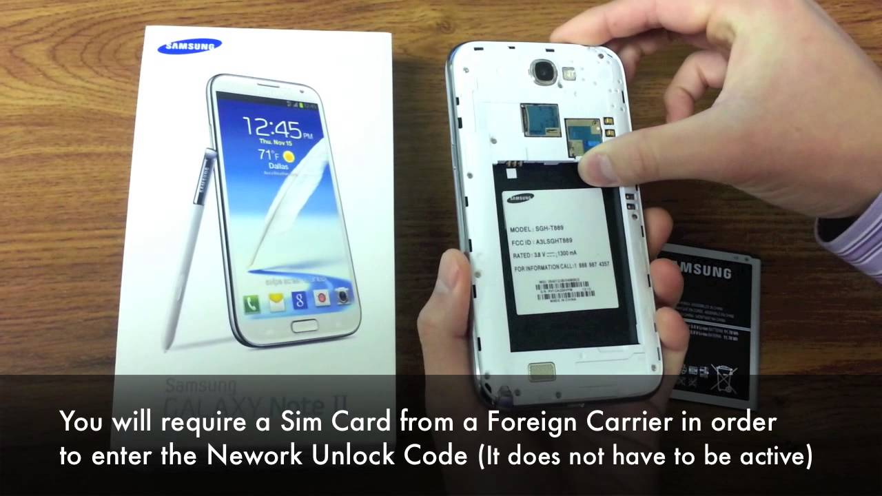 Unlock Samsung Galaxy Note 2 I317, T889, N7100 by Unlock Code