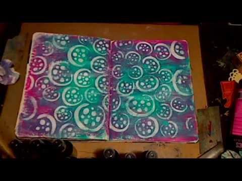 Mixed Media Stencil Art Journal Technique