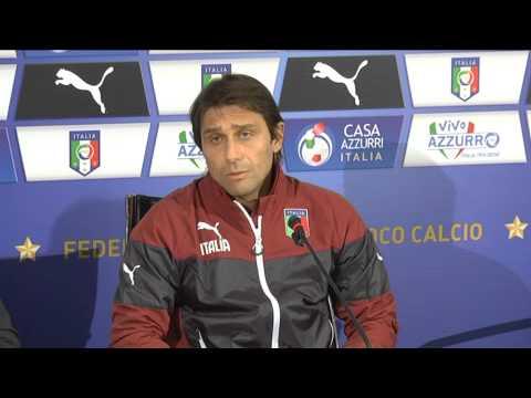 Lorenzo Caffè alla conferenza stampa di Antonio Conte