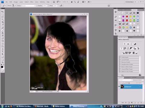 Colocando cabelos no Photoshop
