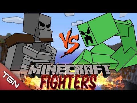 MUTANT SKELETON VS MUTANT CREEPER: MINECRAFT FIGHTERS - Arena Battle