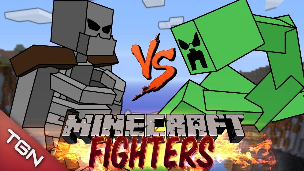 Mutant Skeleton Vs Mutant Creeper Minecraft Fighters