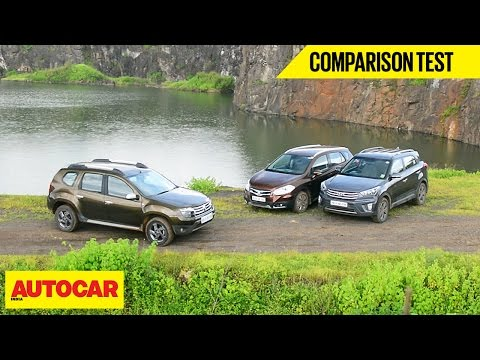 Hyundai Creta VS Maruti S Cross VS Renault Duster | Comparison Test  Autocar India